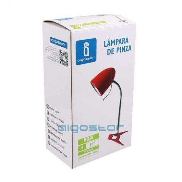 Aigostar-Asztali-lampa-piros-csiptetos-E27-foglalattal