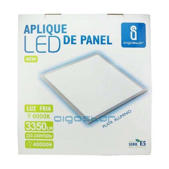 LED panel 300x300 13W természetes fehér ezüst szürke kerettel