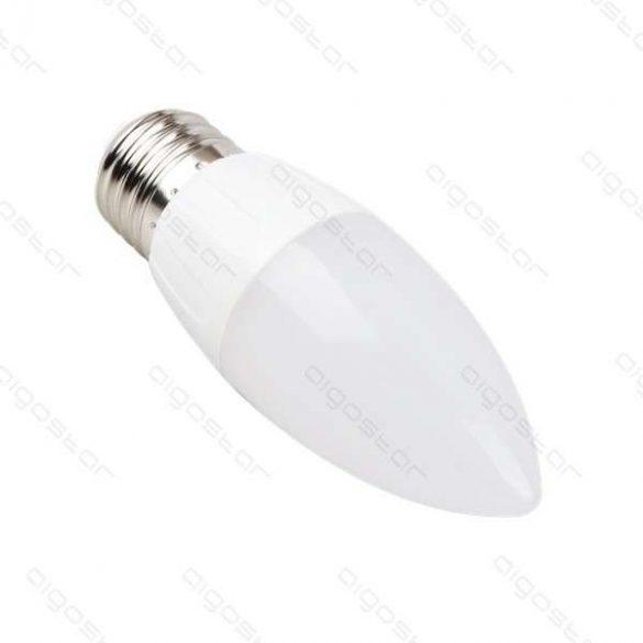 LED izzó A5 C37 E27 9W melegfehér