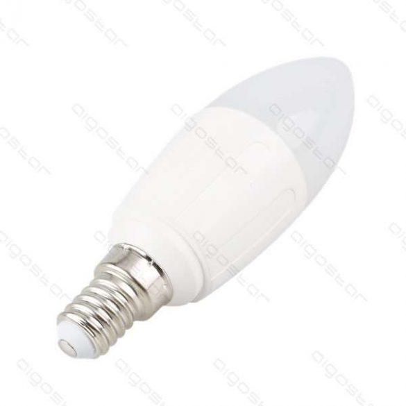 LED izzó A5 C37 E14 9W meleg