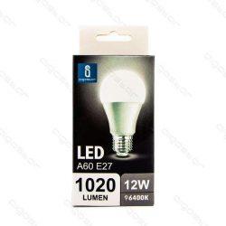 Aigostar LED izzó A60 E27 12W Hideg fehér 280° szórásszögű dobozos