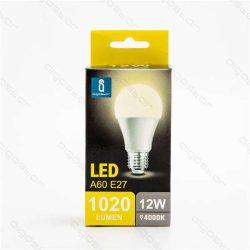 Aigostar LED Gömb izzó A60 E27 12W Természetes fehér 280° dobozos