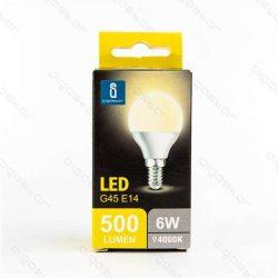 Aigostar LED Gömb izzó G45 E14 6W Természetes fehér 230° dobozos