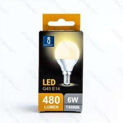 Aigostar LED Gömb izzó G45 E14 6W Meleg fehér 230° dobozos