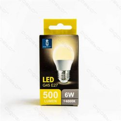 Aigostar LED Gömb izzó G45 E27 6W Természetes fehér 230° dobozos