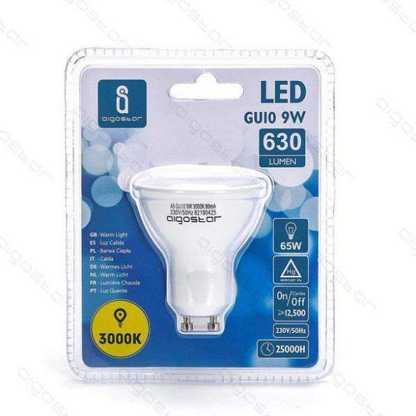 Aigostar LED izzó GU10 9W Meleg fehér 3év jótállás