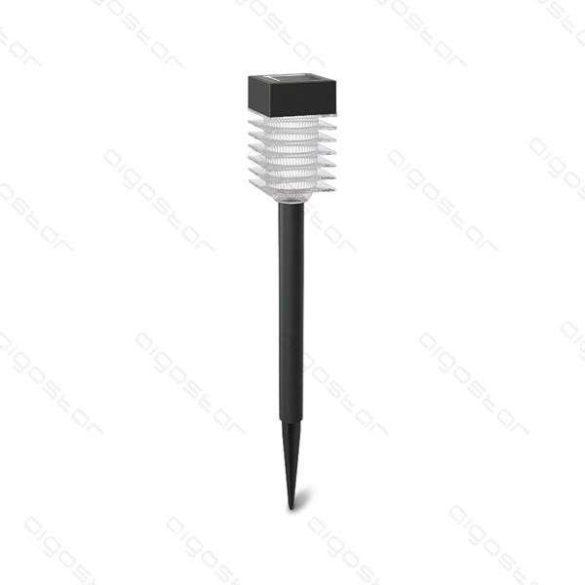 Aigostar Napelemes LED kerti lámpa 0.08W Fekete színű szögletes Hideg fehér IP44