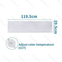 Aigostar Back-Lit LED Panel 300x1200x30mm 32W CCT UGR19 120lm/W