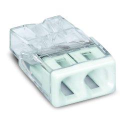 WAGO 2273-202 Vezeték összekötő 2x0-2,5mm2 átlátszó 24A fehér