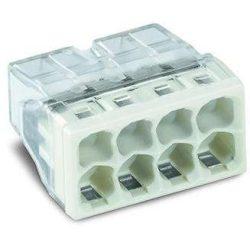 WAGO 2273-208 Vezeték összekötő 8x0-2,5mm2 átlátszó 24A fehér