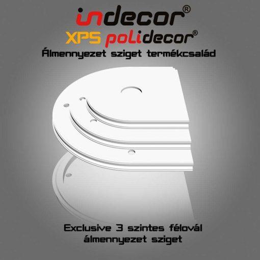 Indecor® 3L-FO-150 Félovális álmennyezet sziget