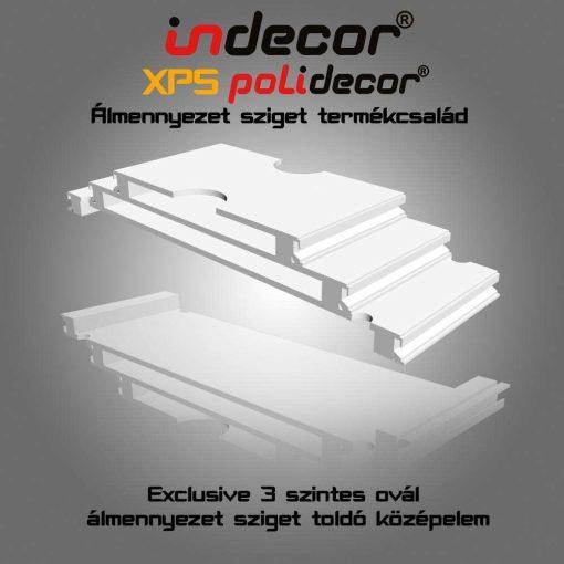 Indecor® 3L-KE-150 Ovális középelem