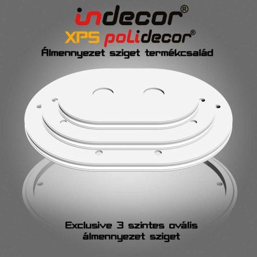 Indecor® 3L-O-150 Ovális álmennyezet sziget
