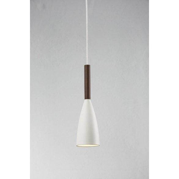 Nordlux PURE 10 Fehér - diófa Függesztett lámpa