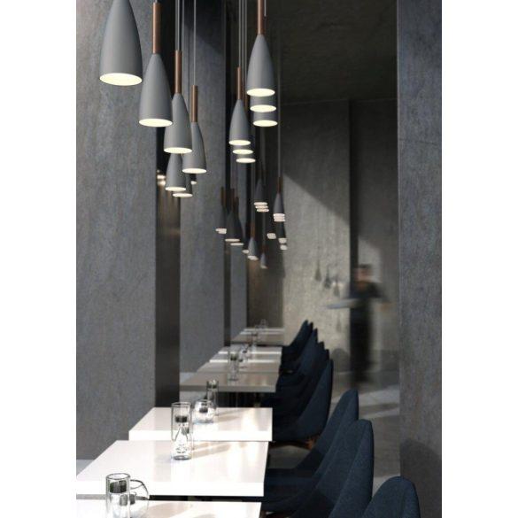 Nordlux PURE 10 Szürke - diófa Függesztett lámpa