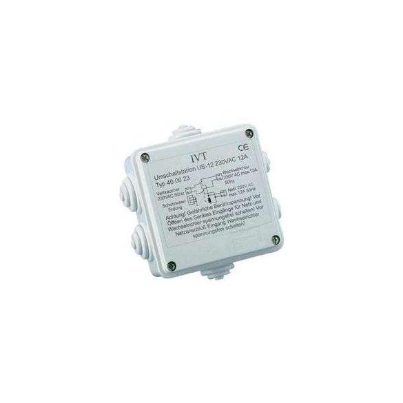 Átkapcsoló állomás, (hálózat és Inverter között)  processzoros, 230V - 12A
