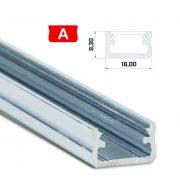 Led profil led szalagokhoz Standard natúr 2 méteres alumínium
