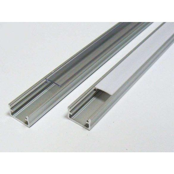 Led profil led szalagokhoz Standard ezüst 2 méteres alumínium