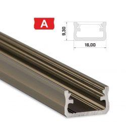 Led profil led szalagokhoz Standard bronz 2 méteres alumínium