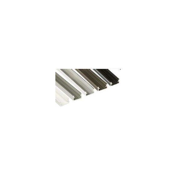 Led profil led szalagokhoz Standard fehér 2 méteres alumínium