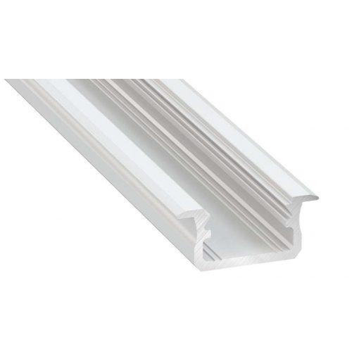 Led profil led szalagokhoz Beépíthető fehér 1 méteres alumínium