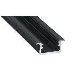 Led profil led szalagokhoz Beépíthető fekete 1 méteres alumínium