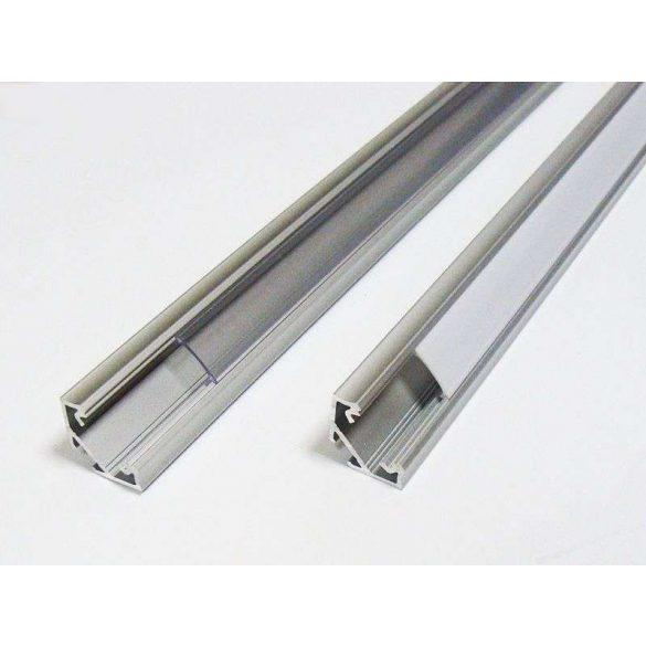 Led profil led szalagokhoz, sarokba rögzíthető, fekete, 2 méteres, alumínium