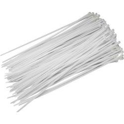 Fehér nylon kábelkötegelő 200x4,8mm 100db/csomag