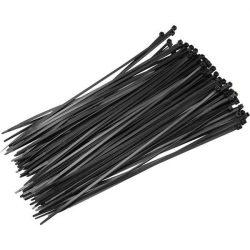 Fekete nylon kábelkötegelő 200X3,6mm 100db/csomag