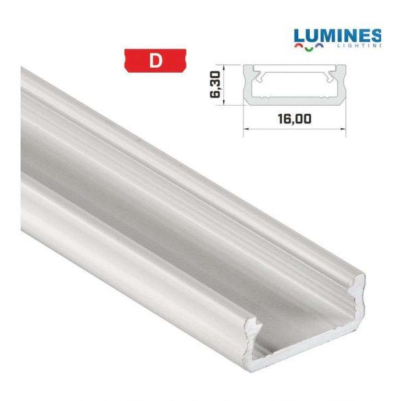 Led profil led szalagokhoz általános U alakú fehér 1 méteres alumínium