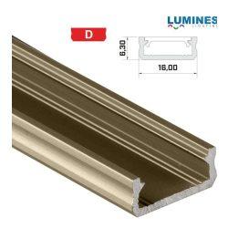 Led profil led szalagokhoz általános U alakú bronz 2 méteres alumínium