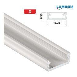Led profil led szalagokhoz általános U alakú fehér 2 méteres alumínium