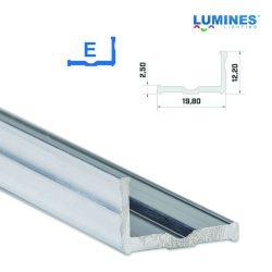 LED Alumínium Profil Széles L alakú [E] Natúr 3 méter
