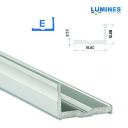 Led profil led szalagokhoz Szélesebb L alakú ezüst 1 méteres