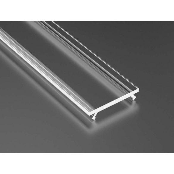 Átlátszó PVC Takaróprofil ECO Profilokhoz 1 méteres