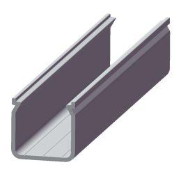 Led ECO Profil Led szalagokhoz U alakú mély Fekete 1 méteres alumínium