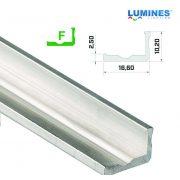 LED Alumínium Profil Keskeny L alakú [F] Natúr 2 méter