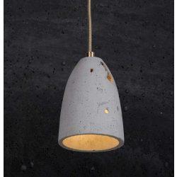 FEBE VOLCANO S Beton Lámpa Fekete