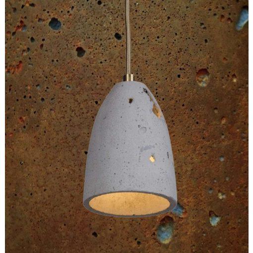 FEBE VOLCANO S Beton Lámpa Rozsdás-szürke