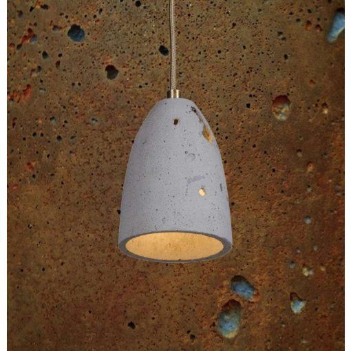 FEBE VOLCANO XS Beton Lámpa Rozsdás-szürke