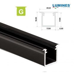 Led profil led szalagokhoz Beépíthető Mély fekete 1 méteres alumínium