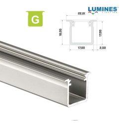 Led profil led szalagokhoz Beépíthető Mély ezüst 2 méteres alumínium