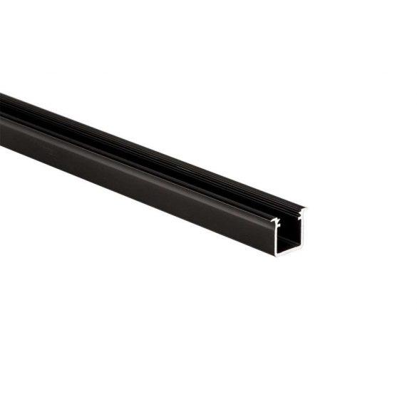 Led profil led szalagokhoz Beépíthető Mély fekete 2 méteres alumínium