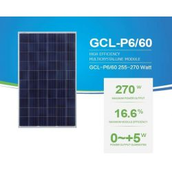 GCL 270Wp Polikristályos napelem panel