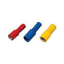 Hengeres 5mm csatlakozó dugaszhüvely teljes sárga szigeteléssel