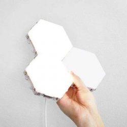 Led lámpatest hatszögletű érintő kapcsolóval Hideg fehér