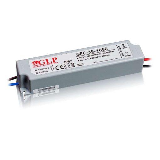 GLP Led tápegység GPC-35-C1050 31.5W 9-30V 1050mA