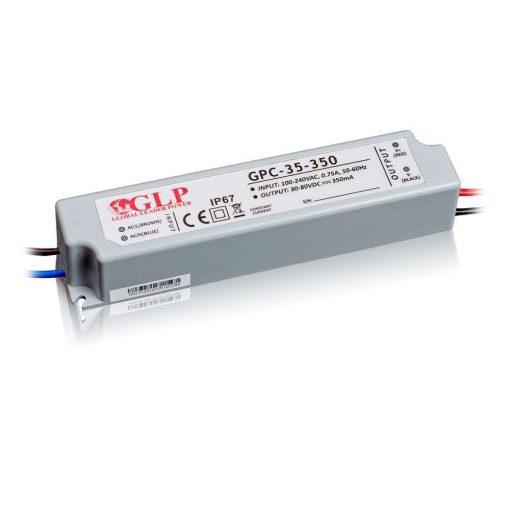 GLP Led tápegység GPC-35-C350 28W 30-80V 350mA
