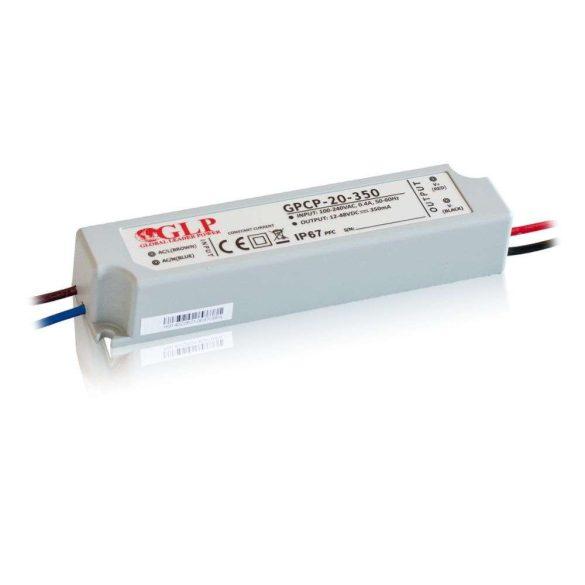 GLP Led tápegység GPCP-20-350 16,8W 12-48V 350mA