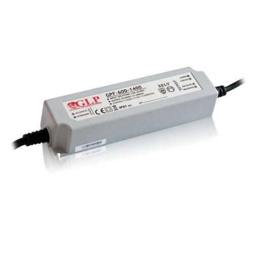 GLP Led tápegység GPF-D60-C1400 dimmelhető 58.8W 22-42V 1400mA